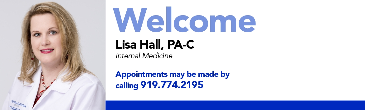 Lisa Hall PA-C Welcome Banner