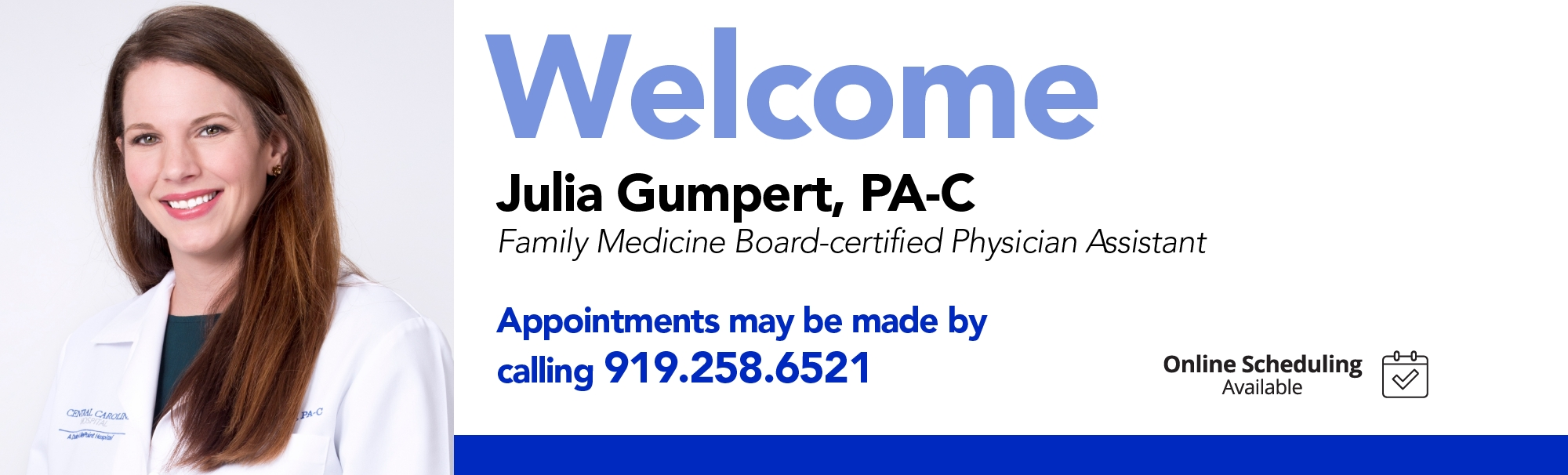 Welcome Julia Gumpert, PA